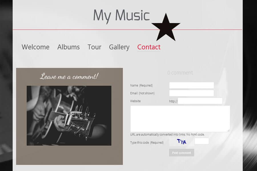 Chức năng tạo tài khoản trên trang web nghe nhạc