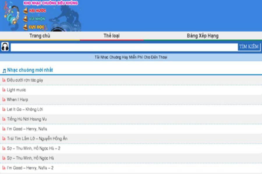Top 3 trang web tải nhạc chuông hay nhất hiện nay
