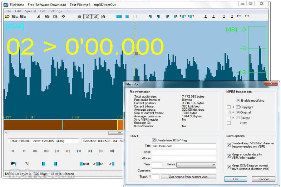 Phần mềm cắt nhạc chuông Mp3DirectCut