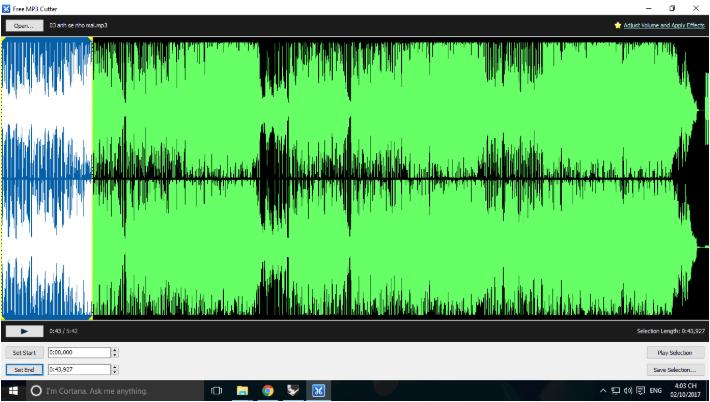 phần mềm Free MP3 WMA Cutter
