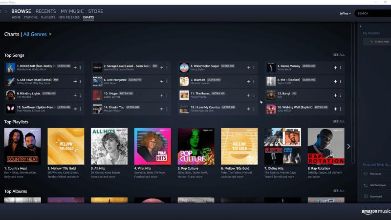 ứng dụng nghe nhạc Amazon